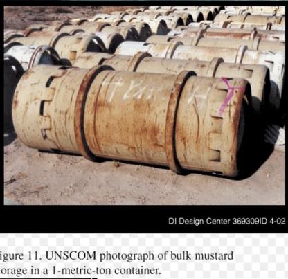 contenedores de gas mostaza