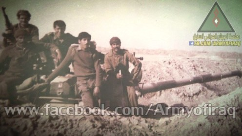 Un grupo iraquies posición estatica.iran -irak