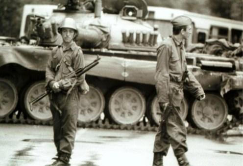 Skorpion M84 Guerra de los Diez Días 1991.