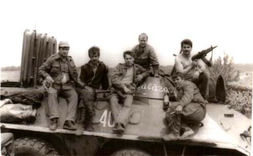1992 voluntarios de Moldavia en s.Kochier, la orilla izquierda del Dniésterg - copia