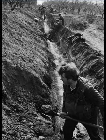 Posiciones de trinchera Moldavia .guerra de Transnistria