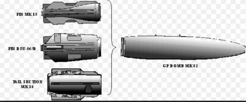 Mk 62 mine tail