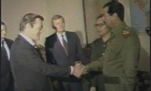 armas quimicas -Donald Rumsfeld-sadam hussein
