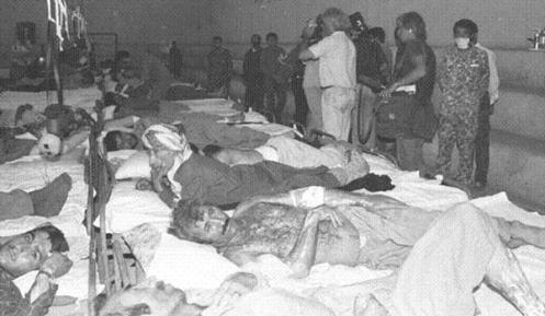 ataque iraqui con gas mostaza-