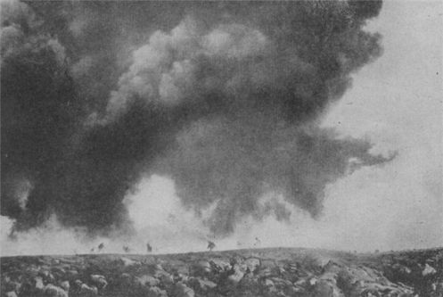 French gas attack on Germany
