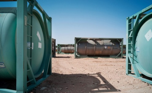 tanques quimicos desierto de libia