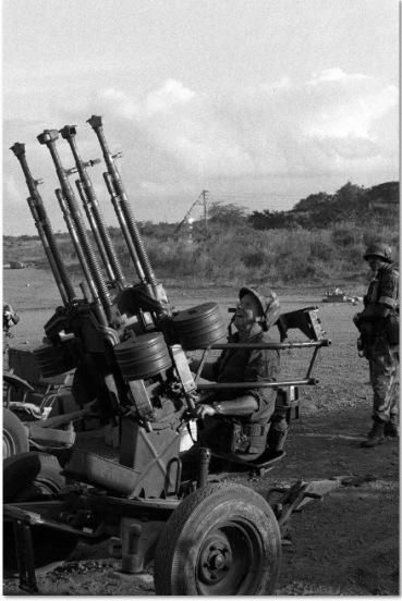 arma antiaérea M53, invasión de Granada 1983.