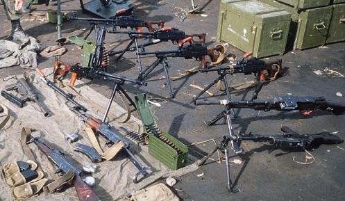 armas confiscadas -invasión de Granada 1983 k