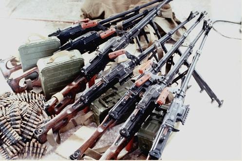 Armas confiscadas -invasión de Granada 1983-