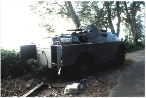 BRDM2 dañado-invasión de Granada 1983.