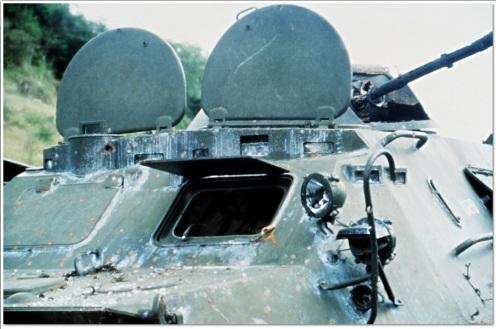 BTR-60 disparos -invasión de Granada 1983