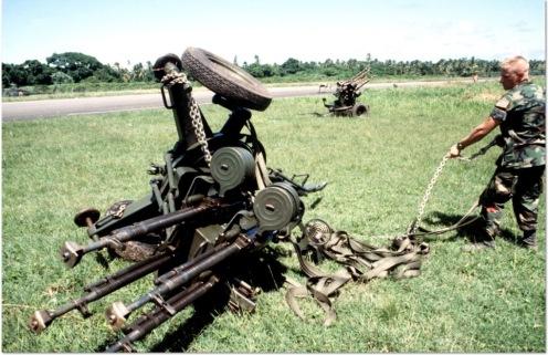 cañón antiaéreo cuadruple M53 12,7mm-invasión de Granada 1983.