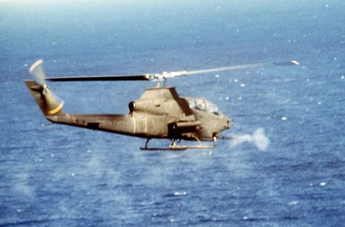 Cobra 1S_firing_cannon_Grenada_1983