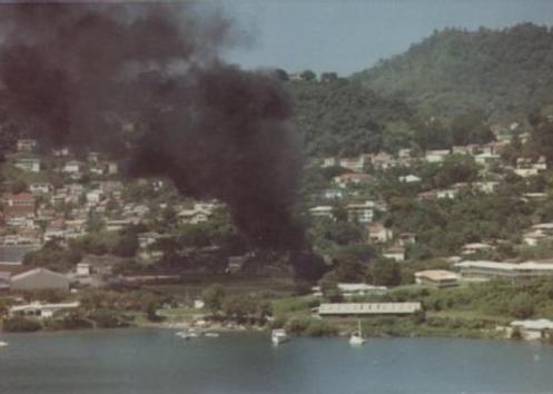 CObra derribado en granada 1983