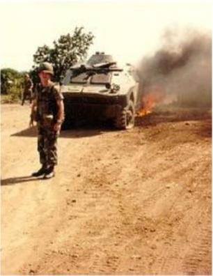 Invasión de Granada 1983-burn