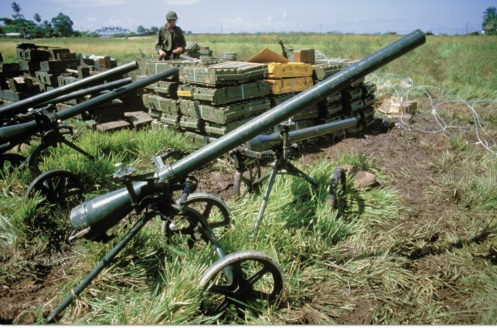Invasión de Granada 1983 -cañones sin retroceso chinos