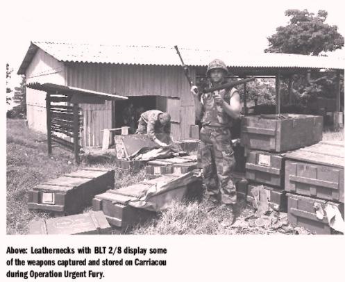 Invasión de Granada 1983- captura de armamentos