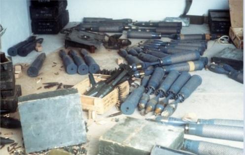 Invasión de Granada 1983 kd-armas capturadas