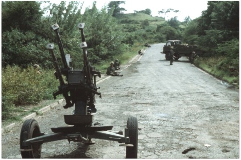 M53 anti-aircraft -Invasión de Granada 1983.2