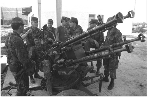 M53 anti-aircraft-invasión de Granada 1983.