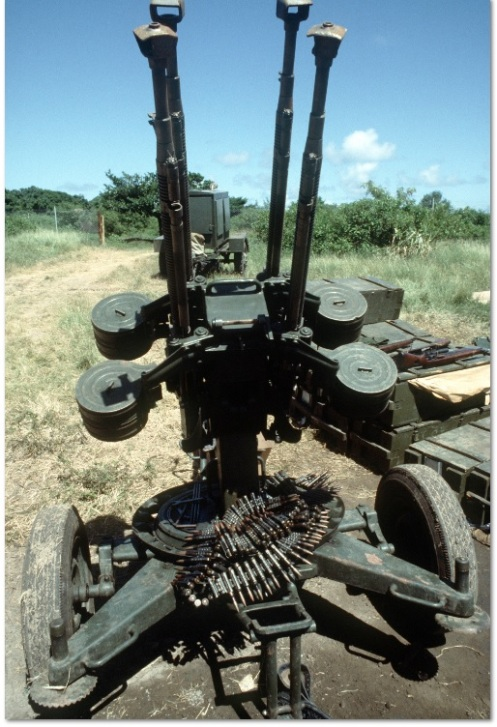 M53 anti-aircraft mounting of four 12.7 mm