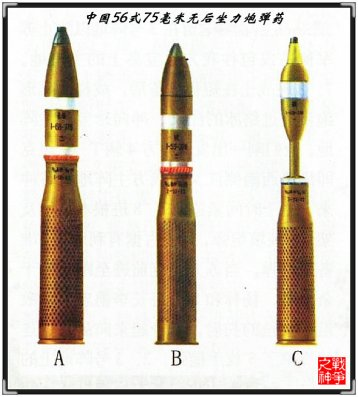 Munición utilizada en el cañón chino Type 56