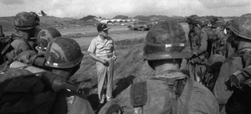 Vice Admiral Joseph Metcalf, US Army Rangers at Point Salines
