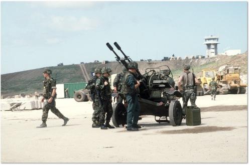 ZU-23 capturado .invasión de Granada 1983.