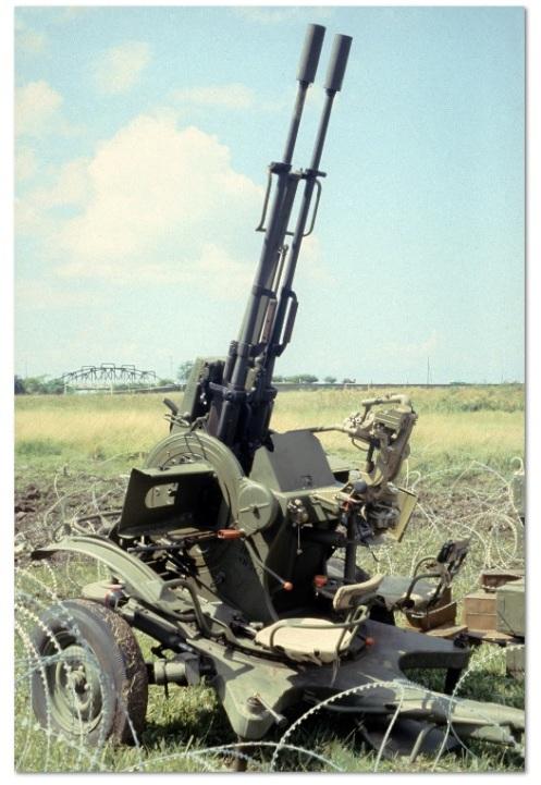 ZU-23 -invasión de Granada 1983.
