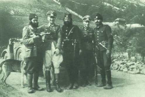 alemanes y chetniks